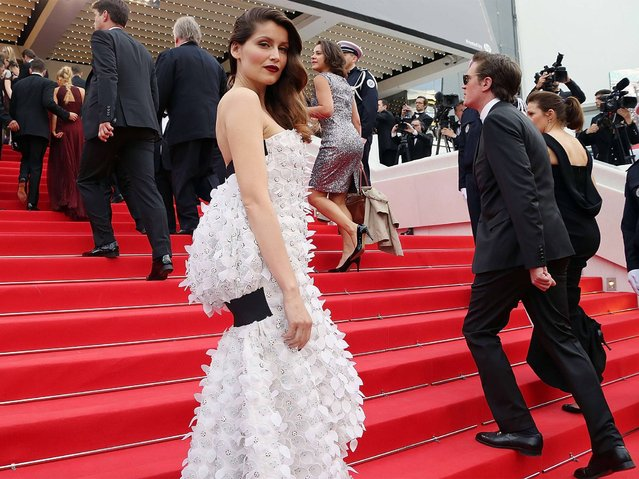 """Laetitia Casta attends the Opening Ceremony and the """"Grace of Monaco"""" Premiere during the 67th Annual Cannes Film Festival on May 14, 2014 in Cannes, France. (Photo by Traverso/L'Oreal/Getty Images)"""