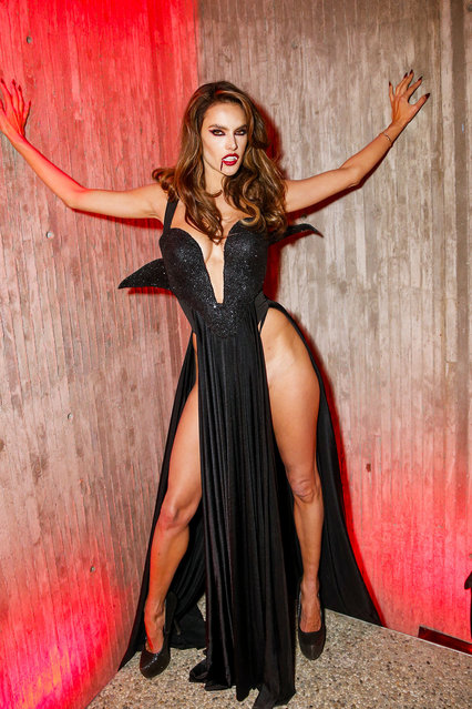 Alessandra Ambrosio attends Alessandra Ambrosio And Darren Dzienciol's Horror In The Hills on October 31, 2019 in Beverly Hills, California. (Photo by Rochelle Brodin/Getty Images)