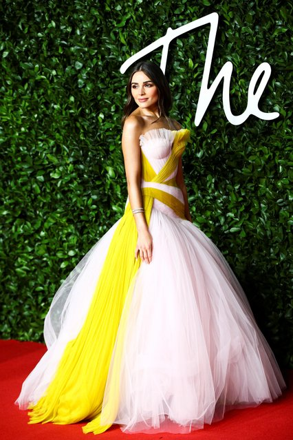 Olivia Culpo arrives at The Fashion Awards 2019 held at Royal Albert Hall on December 02, 2019 in London, England. (Photo by Lisi Niesner/Reuters)