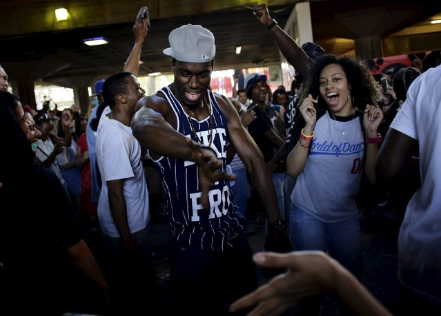 People dance to soul music at a celebration of street culture on the South Bank of the river Thames in London August 9, 2015. (Photo by Kevin Coombs/Reuters)