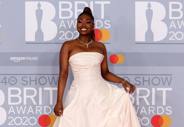Tiana Major9 poses as she arrives for the Brit Awards at the O2 Arena in London, Britain, February 18, 2020. (Photo by Simon Dawson/Reuters)