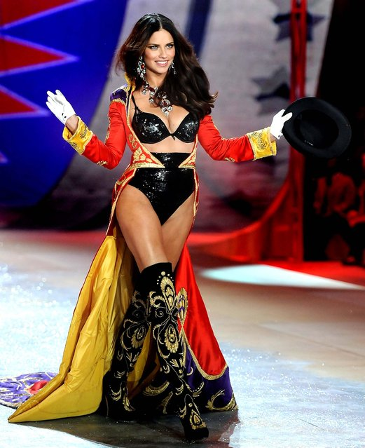 Adriana Lima walks the runway during the 2012 Victoria's Secret Fashion Show. (Photo by Charles Sykes/Evan Agostini)