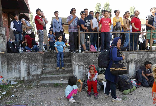 Migrants wait at the station in Beli Manastir, Croatia September 18, 2015. (Photo by Laszlo Balogh/Reuters)