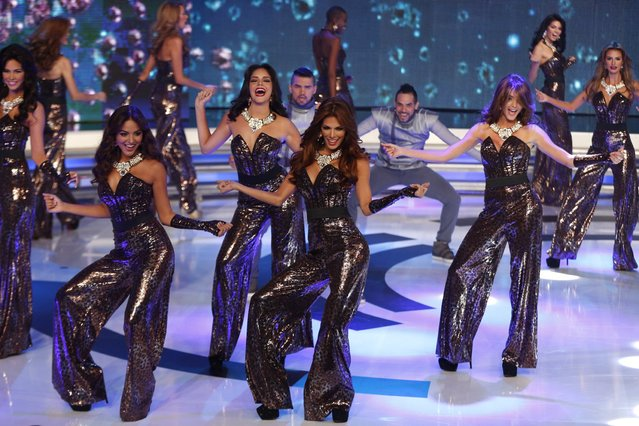 Contestants take part in the Miss Venezuela 2014 pageant in Caracas October 9, 2014. (Photo by Carlos Garcia Rawlins/Reuters)