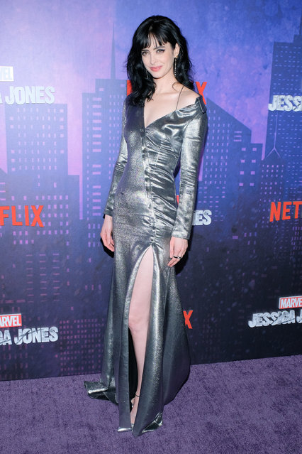"Actress Krysten Ritter attends the ""Jessica Jones"" Season 2 New York Premiere at AMC Loews Lincoln Square on March 7, 2018 in New York City. (Photo by Matthew Eisman/Getty Images)"