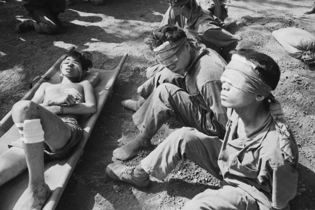Blindfolded Vietnamese prisoners of war, Vietnam, 1975. (Photo by Terry Fincher/Daily Express/Hulton Archive/Getty Images)