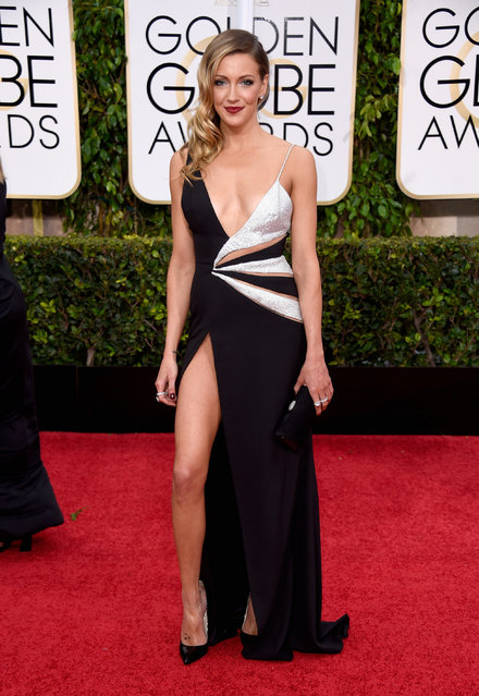 Actress Katie Cassidy attends the 72nd Annual Golden Globe Awards at The Beverly Hilton Hotel on January 11, 2015 in Beverly Hills, California. (Photo by Frazer Harrison/Getty Images)