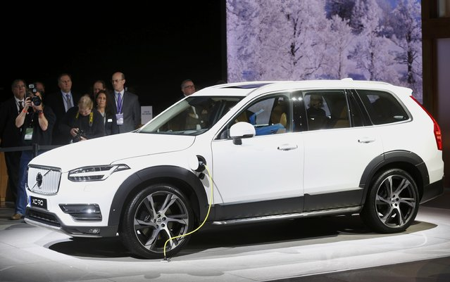 The 2016 Volvo XC-90 hybrid plug-in is displayed during the first press preview day of the North American International Auto Show in Detroit, Michigan, January 12, 2015. (Photo by Mark Blinch/Reuters)