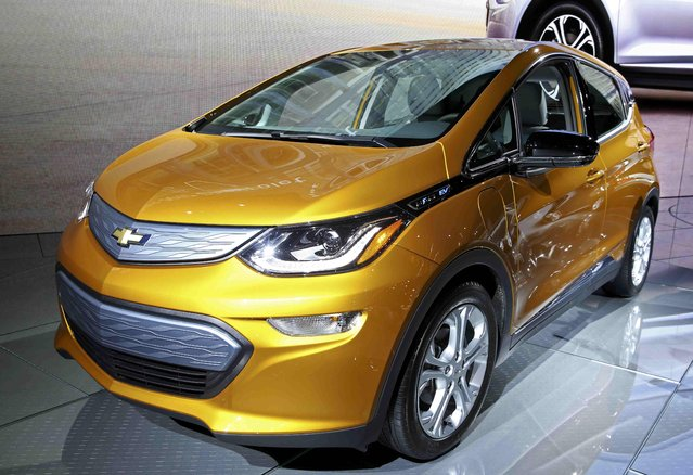 The Chevrolet Bolt EV is pictured at the 2016 Los Angeles Auto Show in Los Angeles, California, U.S November 16, 2016. (Photo by Lucy Nicholson/Reuters)
