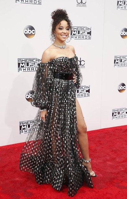 Actress Singer Tinashe arrives at the 2016 American Music Awards in Los Angeles, California, U.S., November 20, 2016. (Photo by Danny Moloshok/Reuters)