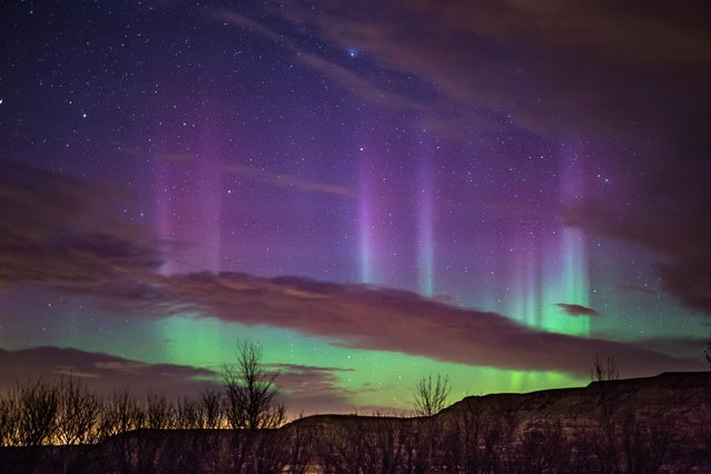 A night with a great aurora show is one with many setting changes based on the conditions. (Photo by Neil Zeller/Caters News)