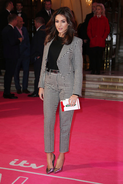Michelle Keegan poses for photographers upon arrival at the ITV Gala event in London, Thursday, November 24, 2016. (Photo by Joel Ryan/Invision/AP Photo)