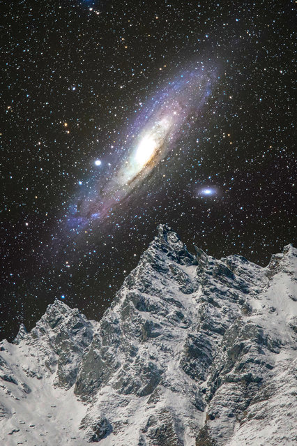 A view of the Andromeda Galaxy in Switzerland. (Photo by Sandro Casutt/Caters News)