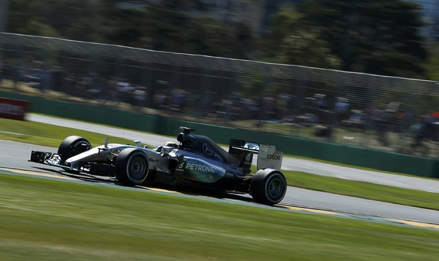 Mercedes Formula One driver Lewis Hamilton of Britain drives during the first practice session of the Australian F1 Grand Prix at the Albert Park circuit in Melbourne March 13, 2015. REUTERS/Jason Reed