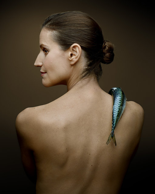"""""""Fish Love"""" Project by Photographer Denis Rouvre. Joanna Bergin. (Photo by Denis Rouvre)"""