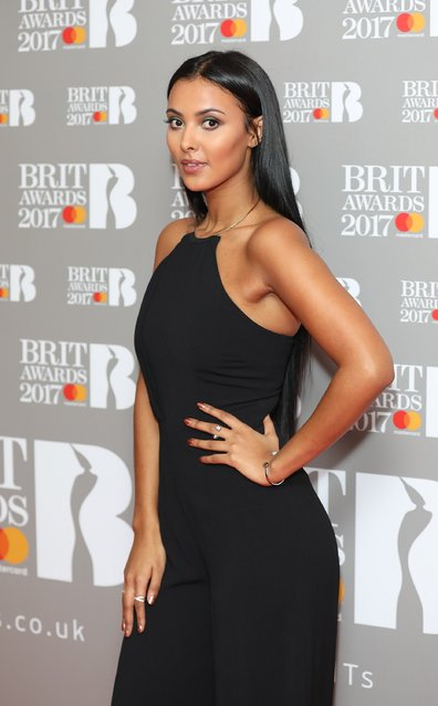 Maya Jama attends The BRIT Awards 2017 nominations launch party at ITV Studios  on January 14, 2017 in London, United Kingdom. (Photo by Tim P. Whitby/Tim P. Whitby/Getty Images)