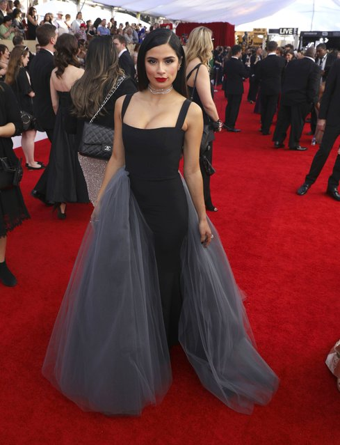 Diane Guerrero arrives at the 23rd annual Screen Actors Guild Awards at the Shrine Auditorium & Expo Hall on Sunday, January 29, 2017, in Los Angeles. (Photo by Matt Sayles/Invision/AP Photo)