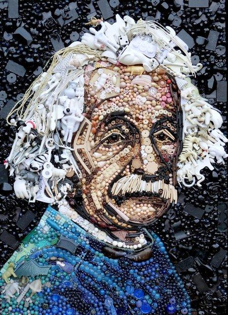 Albert Einstein.  (Photo by Jane Perkins/Caters News)