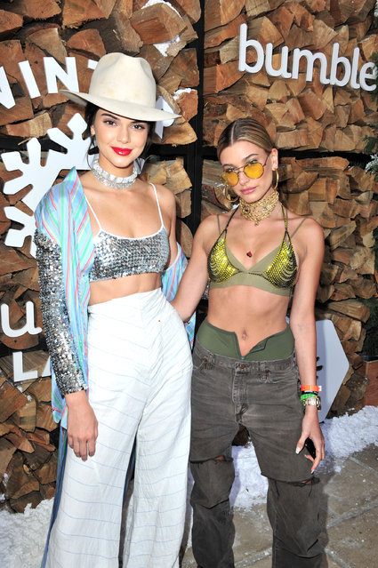 Kendall Jenner and Hailey Baldwin attend Winter Bumbleland – Day 1 on April 15, 2017 in Rancho Mirage, California. (Photo by Jerod Harris/Getty Images for FVA Productions)