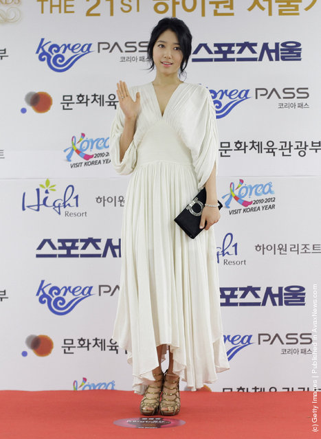 Actress Park Shin-He arrives during the 21st High1 Seoul Music Awards
