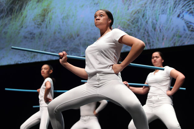 Dancers from the Tareikura Academy dance on stage during The Power Of Inclusion Summit 2019 at Aotea Centre on October 03, 2019 in Auckland, New Zealand. The Power of Inclusion is a global summit where international and local voices share their stories, experiences and expertise to generate momentum for a future where representation and inclusion are the new screen industry standards. The Power of Inclusion summit is hosted by New Zealand Film Commission and Women in Film and Television International, with support from The Walt Disney Studios. (Photo by Michael Bradley/Getty Images for New Zealand Film Commission)