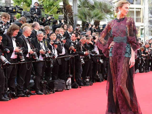 Karlie Kloss attends the Opening Ceremony and the 'Grace of Monaco' premiere during the 67th Annual Cannes Film Festival on May 14, 2014 in Cannes, France. (Photo by Venturelli/WireImage)