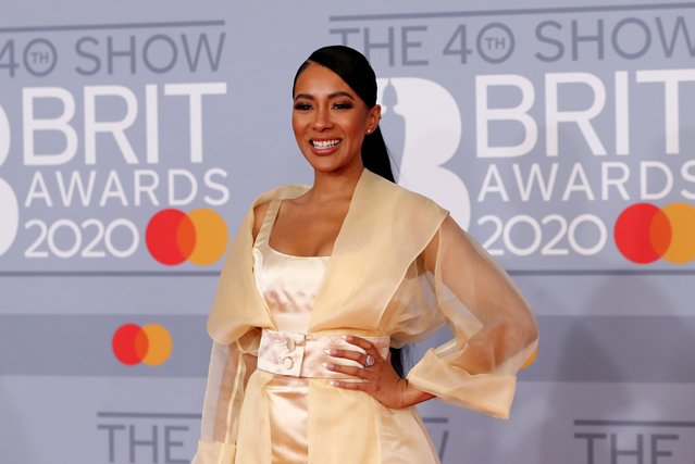 Yasmin Evans poses as she arrives for the Brit Awards at the O2 Arena in London, Britain, February 18, 2020. (Photo by Simon Dawson/Reuters)