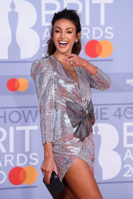 Michelle Keegan attends The BRIT Awards 2020 at The O2 Arena on February 18, 2020 in London, England. (Photo by Joe Maher/Getty Images for Bauer Media)