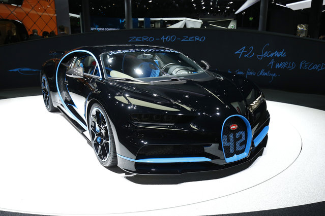 A Bugatti Zero-400-Zero is displayed during the Frankfurt Motor Show (IAA) in Frankfurt, Germany September 11, 2017. (Photo by Ralph Orlowski/Reuters)