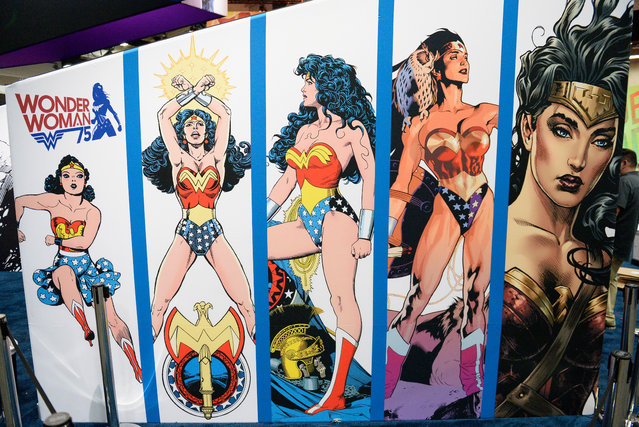 Wonder Woman display at Comic-Con International 2016 preview night on July 20, 2016 in San Diego, California. (Photo by Matt Cowan/Getty Images)