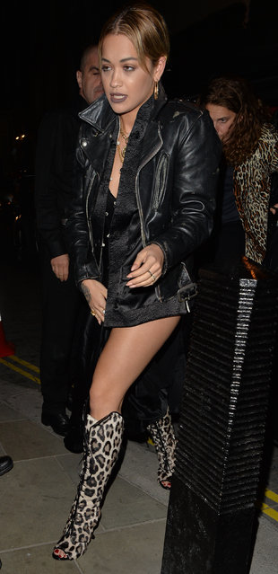 Rita Ora seen during Dave Gardner's birthday party at Lulu restaurant on September 16, 2016 in London, England. (Photo by Eagle Lee/Barcroft Images)