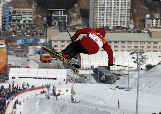 France' s Kevin Rolland competes in the men' s ski halfpipe qualification event during the Pyeongchang 2018 Winter Olympic Games at the Phoenix Park in Pyeongchang on February 20, 2018. (Photo by Issei Kato/Reuters)