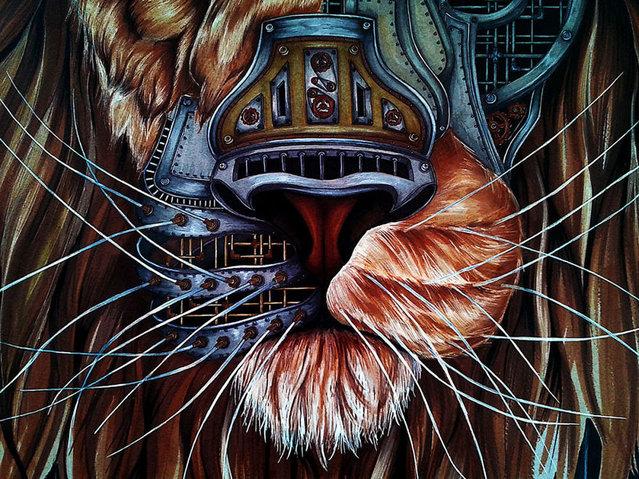 Steampunk Lion By Paula Duta