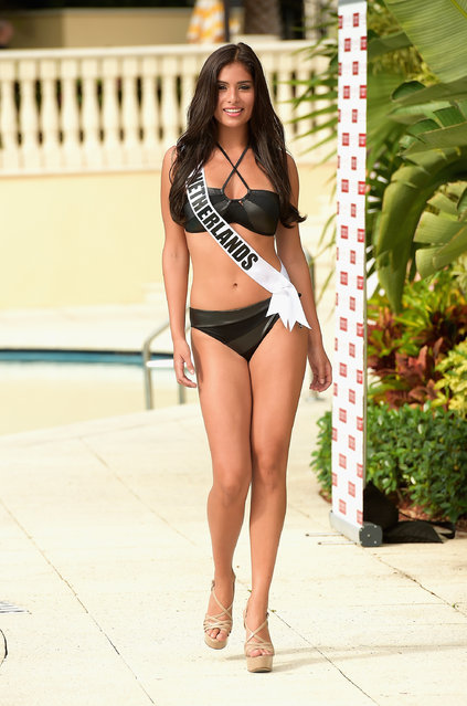 Miss Netherlands Yasmin Verheijen  participates in Miss Universe – Yamamay Swimsuit Runway Show at Trump National Doral on January 14, 2015 in Doral, Florida. (Photo by Gustavo Caballero/Getty Images)
