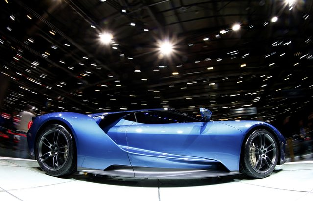 A new Ford GT supercar is seen during the second press day ahead of the 85th International Motor Show in Geneva March 4, 2015.  REUTERS/Arnd Wiegmann