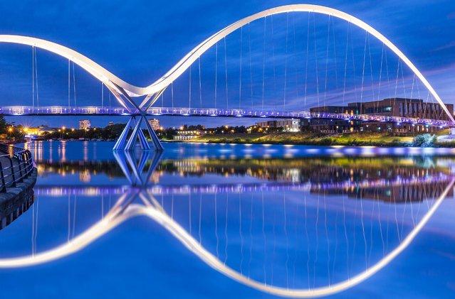 Infinity Bridge, Stockton-on-Tees on August 21, 2016. (Photo by Dave Zdanowicz/Rex Features/Shutterstock)
