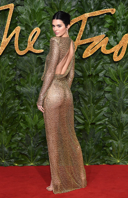 Kendall Jenner arrives at The Fashion Awards 2018 In Partnership With Swarovski at Royal Albert Hall on December 10, 2018 in London, England. (Photo by Karwai Tang/WireImage)