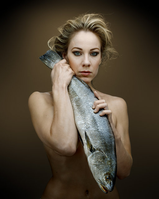 """""""Fish Love"""" Project by Photographer Denis Rouvre. Jeany Spark. (Photo by Denis Rouvre)"""
