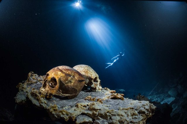 The Maya civilization has long fascinated those curious about the past, as well as the future. In the August edition of National Geographic, we explored underwater wells – called cenotes – to understand how the Maya used the water, the position of the sun, and a series of shadows to influence their architecture and craft their highly regarded calendar. (Photo by Paul Nicklen/National Geographic)