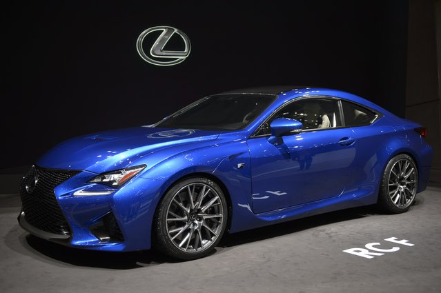 The new Lexus RC F is  on display  at the 84. Geneva International Motor Show in Geneva, Switzerland, Tuesday, March 4, 2014.  (Photo by Martial Trezzini/AP Photo/Keystone)