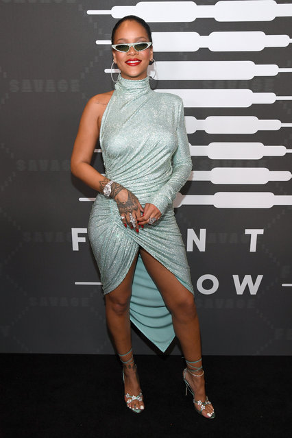 Rihanna attends Savage X Fenty Show Presented By Amazon Prime Video – Arrivals at Barclays Center on September 10, 2019 in Brooklyn, New York. (Photo by Kevin Mazur/Getty Images for Savage X Fenty Show Presented by Amazon Prime Video)