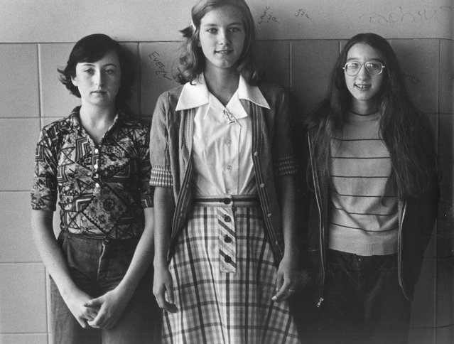 """""""Three Friends"""", 1976. He practised his craft with students at Malverne, capturing the blend of confidence and vulnerability at the heart of our teenage years. (Photo by Joseph Szabo/Courtesy of Michael Hoppen Gallery/The Guardian)"""