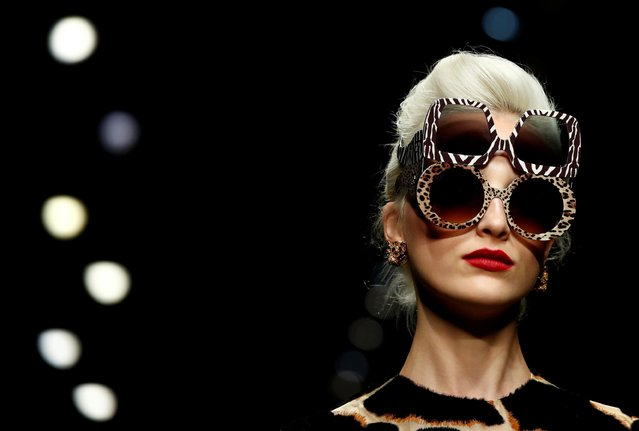 A model presents a creation from the Dolce & Gabbana Spring/Summer 2020 collection during fashion week in Milan, Italy, September 22, 2019. (Photo by Alessandro Garofalo/Reuters)