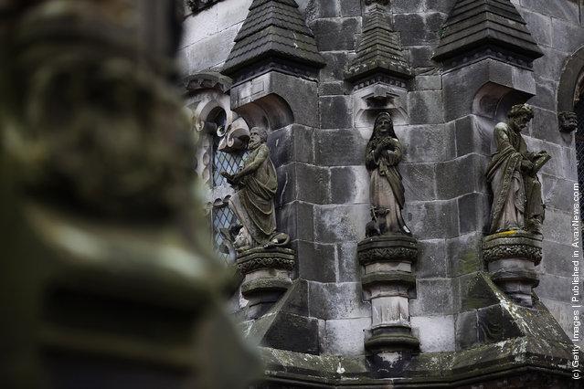 Rosslyn Chapel in Roslin, Scotland