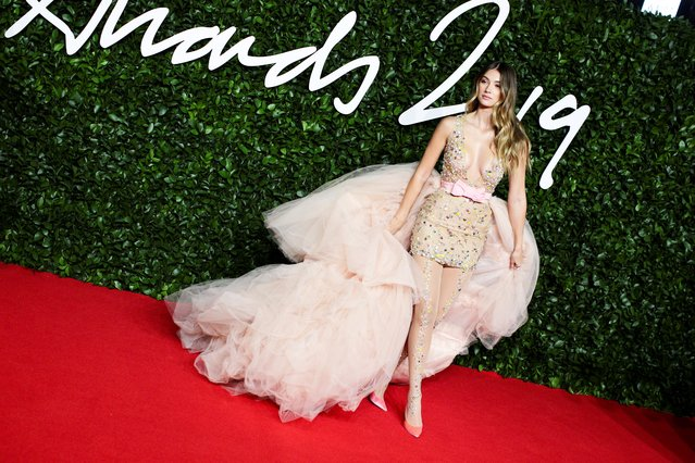 Model Lorena Rae arrives at The Fashion Awards 2019 held at Royal Albert Hall on December 02, 2019 in London, England. (Photo by Lisi Niesner/Reuters)
