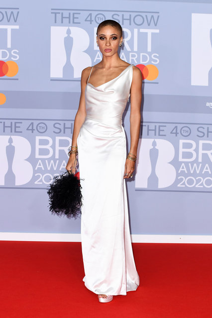 Adwoa Aboah attends The BRIT Awards 2020 at The O2 Arena on February 18, 2020 in London, England. (Photo by Gareth Cattermole/Getty Images)