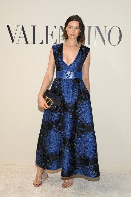 Caitriona Balfe  attends the Valentino show as part of the Paris Fashion Week Womenswear Fall/Winter 2020/2021 on March 01, 2020 in Paris, France. (Photo by Pascal Le Segretain/Getty Images)