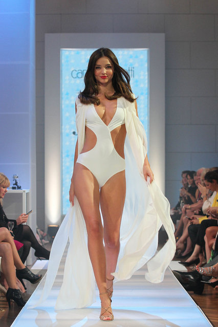 Miranda Kerr shows some curves at the David Jones fashion show in Sydney