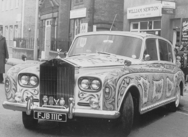 John Lennon's Phanthom V Rolls Royce, painted in psychedelic colors, in Surrey, England, May 25, 1967. (Photo by AP Photo)