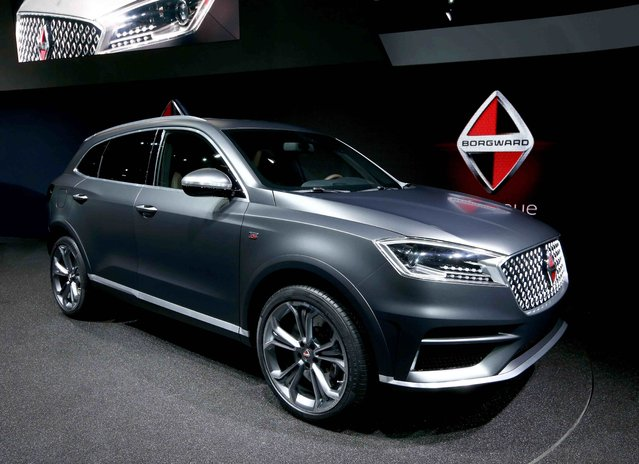 The Borgward BX7 SUV is presented during the media day at the Frankfurt Motor Show (IAA) in Frankfurt, Germany September 15, 2015. (Photo by Ralph Orlowski/Reuters)